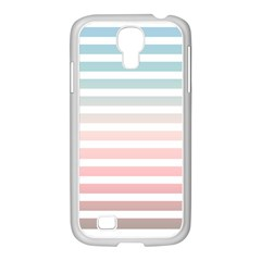 Horizontal Pinstripes In Soft Colors Samsung Galaxy S4 I9500/ I9505 Case (white) by shawlin
