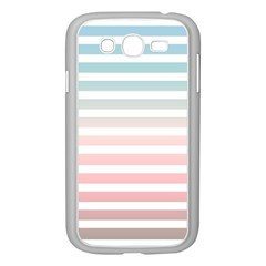 Horizontal Pinstripes In Soft Colors Samsung Galaxy Grand Duos I9082 Case (white) by shawlin