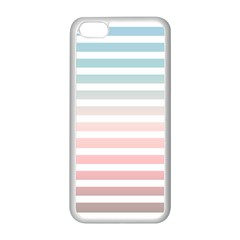 Horizontal Pinstripes In Soft Colors Iphone 5c Seamless Case (white) by shawlin