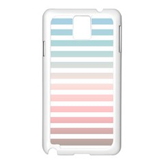 Horizontal Pinstripes In Soft Colors Samsung Galaxy Note 3 N9005 Case (white) by shawlin