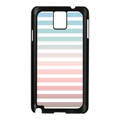 Horizontal Pinstripes In Soft Colors Samsung Galaxy Note 3 N9005 Case (black) by shawlin