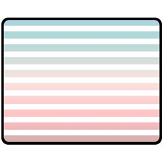 Horizontal Pinstripes In Soft Colors Double Sided Fleece Blanket (medium)  by shawlin