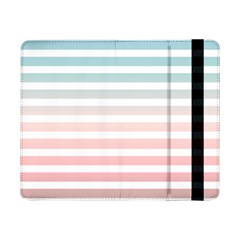 Horizontal Pinstripes In Soft Colors Samsung Galaxy Tab Pro 8 4  Flip Case by shawlin
