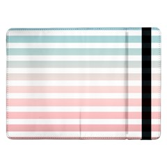 Horizontal Pinstripes In Soft Colors Samsung Galaxy Tab Pro 12 2  Flip Case by shawlin