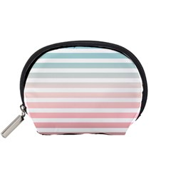 Horizontal Pinstripes In Soft Colors Accessory Pouch (small) by shawlin