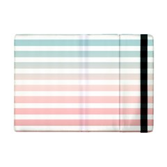 Horizontal Pinstripes In Soft Colors Ipad Mini 2 Flip Cases by shawlin