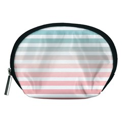 Horizontal Pinstripes In Soft Colors Accessory Pouch (medium) by shawlin