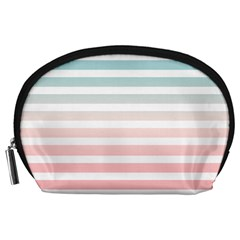 Horizontal Pinstripes In Soft Colors Accessory Pouch (large) by shawlin