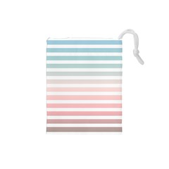 Horizontal Pinstripes In Soft Colors Drawstring Pouch (small) by shawlin