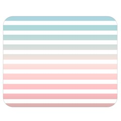 Horizontal Pinstripes In Soft Colors Double Sided Flano Blanket (medium)  by shawlin