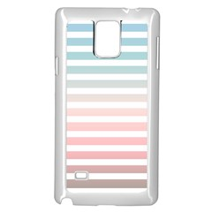 Horizontal Pinstripes In Soft Colors Samsung Galaxy Note 4 Case (white) by shawlin