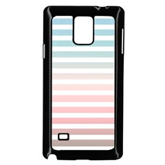 Horizontal Pinstripes In Soft Colors Samsung Galaxy Note 4 Case (black) by shawlin