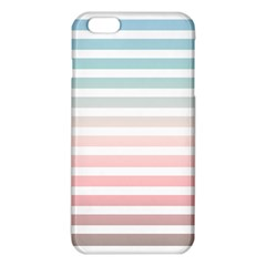 Horizontal Pinstripes In Soft Colors Iphone 6 Plus/6s Plus Tpu Case by shawlin