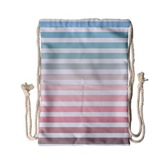 Horizontal Pinstripes In Soft Colors Drawstring Bag (small) by shawlin