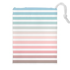Horizontal Pinstripes In Soft Colors Drawstring Pouch (xxl) by shawlin