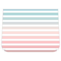Horizontal Pinstripes In Soft Colors Buckle Messenger Bag by shawlin