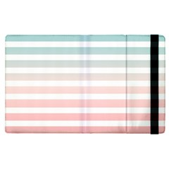 Horizontal Pinstripes In Soft Colors Apple Ipad Mini 4 Flip Case by shawlin