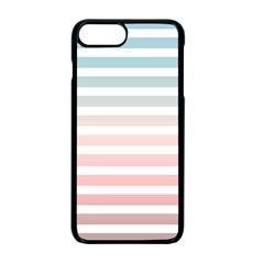Horizontal Pinstripes In Soft Colors Iphone 7 Plus Seamless Case (black) by shawlin