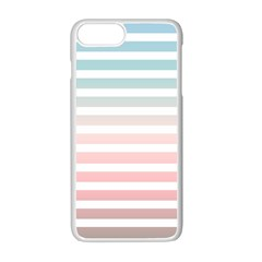 Horizontal Pinstripes In Soft Colors Iphone 7 Plus Seamless Case (white) by shawlin
