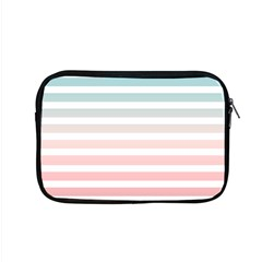 Horizontal Pinstripes In Soft Colors Apple Macbook Pro 15  Zipper Case by shawlin