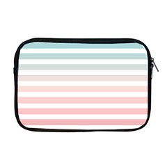 Horizontal Pinstripes In Soft Colors Apple Macbook Pro 17  Zipper Case by shawlin