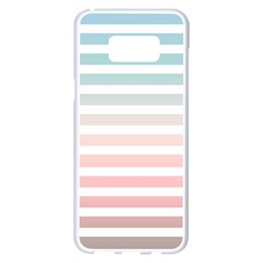 Horizontal Pinstripes In Soft Colors Samsung Galaxy S8 Plus White Seamless Case by shawlin