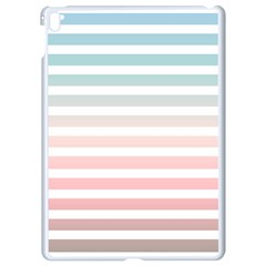 Horizontal Pinstripes In Soft Colors Apple Ipad Pro 9 7   White Seamless Case by shawlin