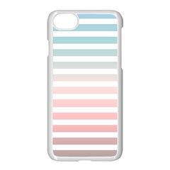 Horizontal Pinstripes In Soft Colors Iphone 8 Seamless Case (white) by shawlin
