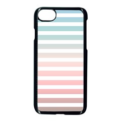 Horizontal Pinstripes In Soft Colors Iphone 8 Seamless Case (black) by shawlin