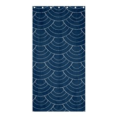 Blue Sashiko Shower Curtain 36  X 72  (stall)  by goljakoff