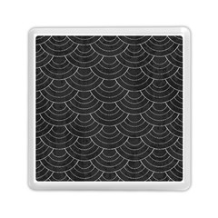 Black Sashiko Memory Card Reader (square) by goljakoff