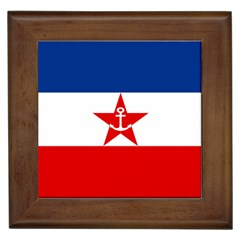 Naval Ensign Of Yugoslavia, 1943-1949 Framed Tiles
