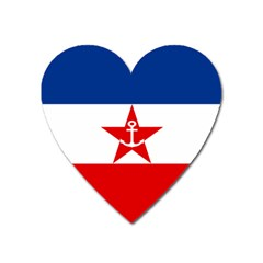 Naval Ensign Of Yugoslavia, 1943 1949 Heart Magnet by abbeyz71