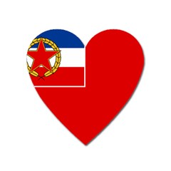 Naval Ensign Of Yugoslavia, 1949-1993 Heart Magnet by abbeyz71