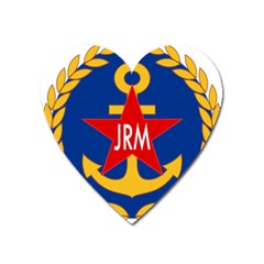Seal Of The Yugoslav Navy Heart Magnet by abbeyz71