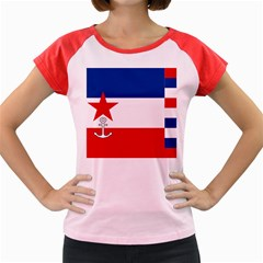 Naval Ensign Of Yugoslavia, 1942 1943 Women s Cap Sleeve T Shirt by abbeyz71