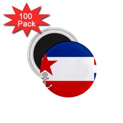 Naval Ensign Of Yugoslavia, 1942-1943 1 75  Magnets (100 Pack)  by abbeyz71