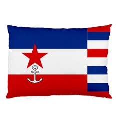 Naval Ensign Of Yugoslavia, 1942-1943 Pillow Case (two Sides) by abbeyz71