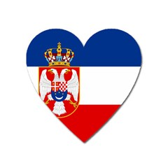 Naval Ensign Of Kingdom Of Yugoslavia, 1932-1939 Heart Magnet by abbeyz71