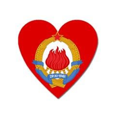 Naval Jack Of Yugoslavia, 1963-1993 Heart Magnet by abbeyz71