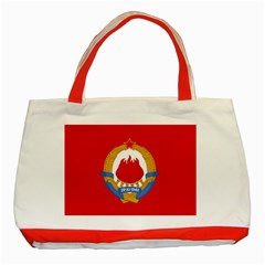 Naval Jack Of Yugoslavia, 1963 1993 Classic Tote Bag (red) by abbeyz71