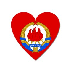 Naval Jack Of Yugoslavia, 1956-1963 Heart Magnet by abbeyz71