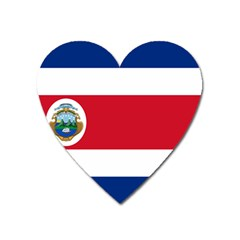 National Flag Of Costa Rica Heart Magnet by abbeyz71