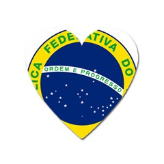 National Seal Of Brazil Heart Magnet by abbeyz71