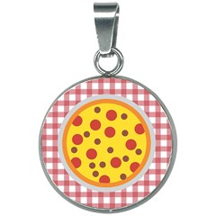 Pizza Table Pepperoni Sausage Copy 20mm Round Necklace