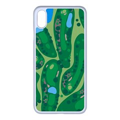 Golf Course Par Golf Course Green Copy Iphone Xs Max Seamless Case (white)