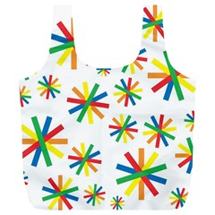 Celebrate Pattern Colorful Design Full Print Recycle Bag (xl)