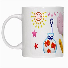 Summer Fair Food Goldfish White Mugs