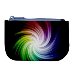 Rainbow Swirl Twirl Large Coin Purse by Nexatart