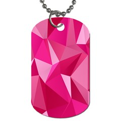 Pattern Halftone Geometric Dog Tag (two Sides)